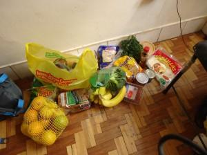 My food supply for a few days, yummy :)