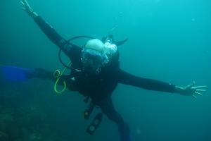 Me, diving at Galapagos, Ecuador