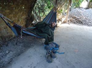 sleeping in a hammock in peru