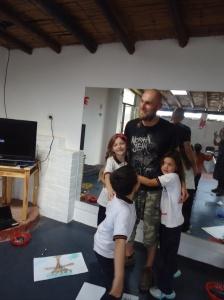 teaching kids at pachacamac, lima, peru